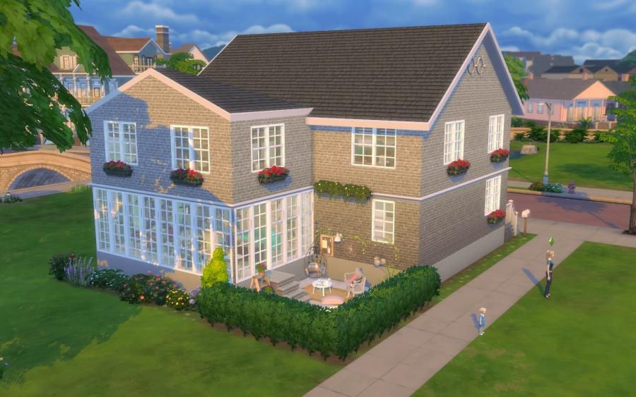 Sims 4 maison boheme cc custom content chic for Exterieur sims 4