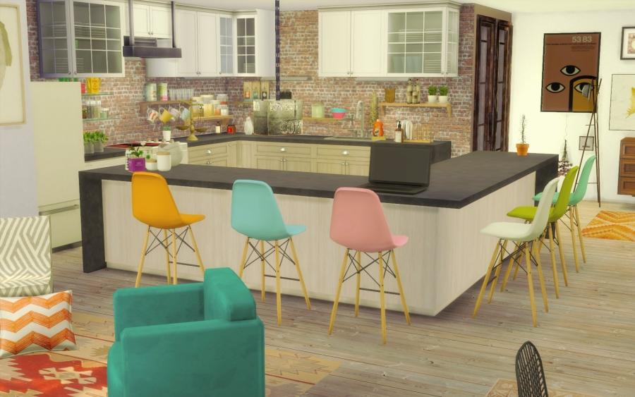 Préférence Sims 4 maison boheme cc custom content chic BY43