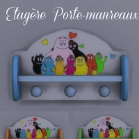 Etag�re-Porte-manteaux