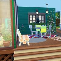 Terrasse sous porche