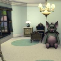 maison victorienne chambre enfant ado bleu foncée 1
