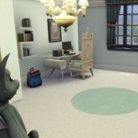 maison victorienne chambre enfant ado bleu foncée 2