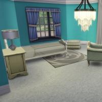 maison victorienne chambre enfant ado bleu turquoise 1