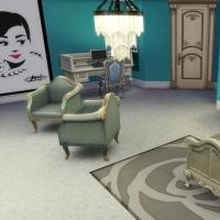 maison victorienne chambre enfant ado bleu turquoise 2