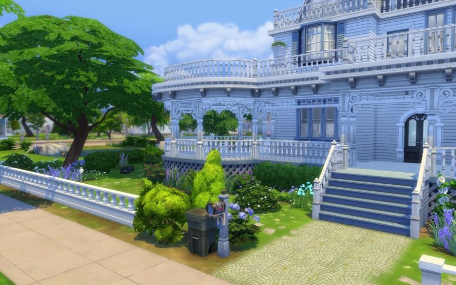 Sims 4 house maison victorienne victorian building for Exterieur sims 4