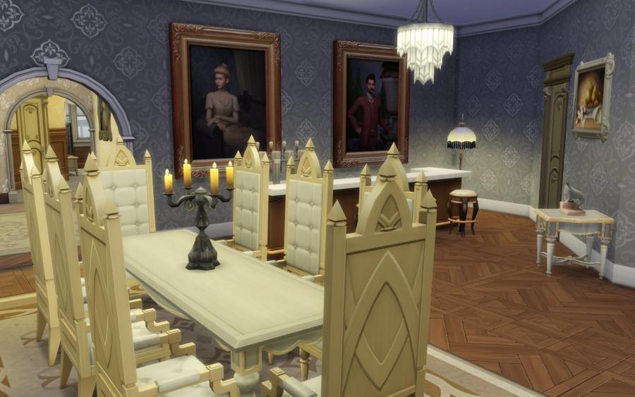 maison victorienne salle manger