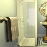 maison victorienne salle de bain chambre enfant ado bleu foncée