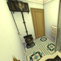 maison victorienne salle de bain chambre enfant ado bleu turquoise