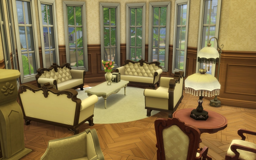 sims 4 house maison victorienne victorian building. Black Bedroom Furniture Sets. Home Design Ideas