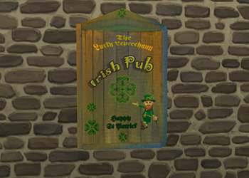 "Panneau Irish Pub ""The Lucky Leprechaun"""