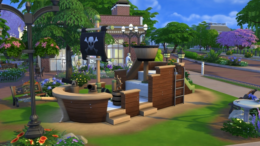 Sims 4 t l chargement magasin for Exterieur sims 4
