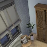 Appartement scandinave - chambre - coin rangement