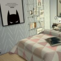 Appartement scandinave - chambre - lit