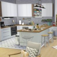 Appartement scandinave - cuisine et salle à manger