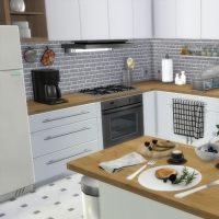 Appartement scandinave - cuisine