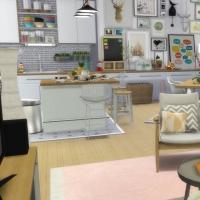 Appartement scandinave - pièce à vivre