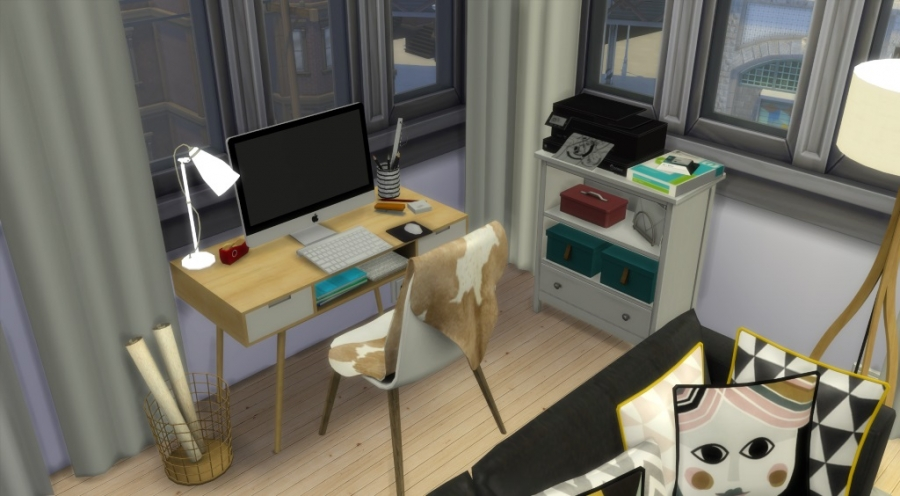 sims 4 appartement apartment scandinavian style scandinave custom content cc contenu personnalis. Black Bedroom Furniture Sets. Home Design Ideas