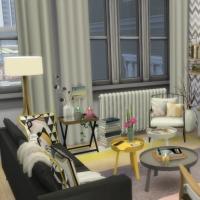 Appartement scandinave - salon - espace télé
