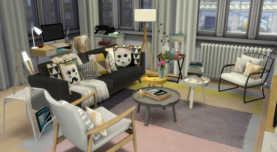 Sims 4 Appartement Apartment Scandinavian Style Scandinave