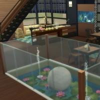 Le café zen - la partie gauche de la salle