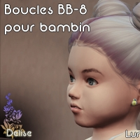 Boucles BB 8 pour bambin