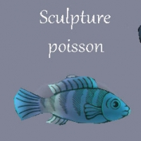 Sculpture-poisson