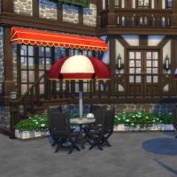 Le café du vieux lavoir - la terrasse du café