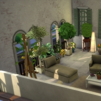 Terrasse intérieure vue 2