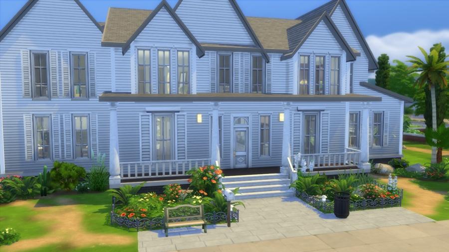 Sims téléchargement maison coloniale