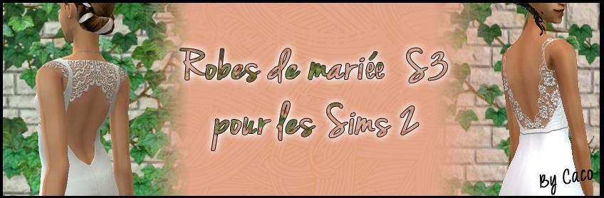 Robes de Mariées Sims 3 pour les Sims 2