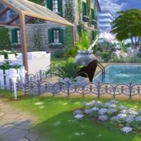 Campanule Jardin piscine