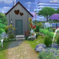 Campanule Jardin potager cabanon