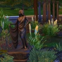 Le cimeti�re maudit - le bassin et le pont de jour