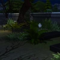 Le cimeti�re maudit - pierres tombales
