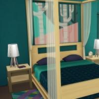 Blue - chambre parentale - le lit