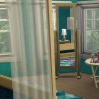 Blue - chambre parentale - le miroir et les tables
