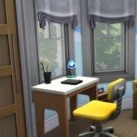 Blue - chambre pour enfant - le bureau et le coffre à jouets