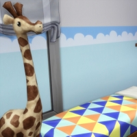 Blue - chambre pour enfant - le lit et les �tag�res