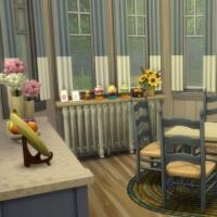 Blue - salle � manger - la table
