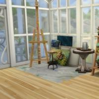 Blue - salon - coin atelier pour peintres en herbe