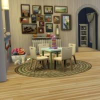 Blue - salon - l'espace jeu et l'aquarium