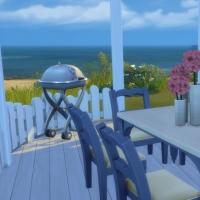 Blue - terrasse avec barbecue