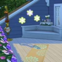 Blue - terrasse de l'étage - siège et mangeoire à oiseaux