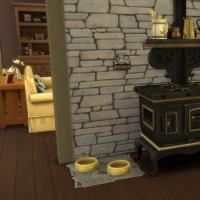 La cabane - la cuisinière à bois