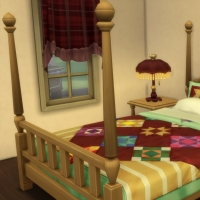 La cabane - le lit de la chambre parentale