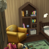 La cabane - le lit de la chambre pour bambin