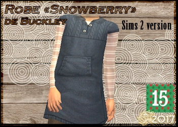 Robe enfant Snowberry de Buckley, version Sims 2