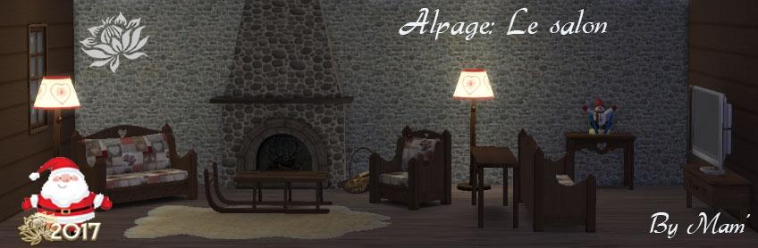 Alpage: Le salon