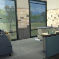 Salle d'examen bleue vue 2