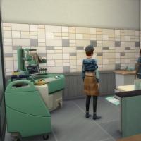 Salle d'examen verte vue 2